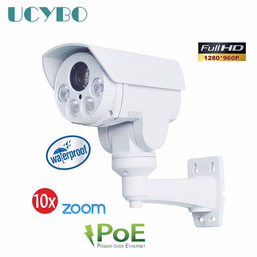 2.0 MEGAPIXEL PoE 10X OPTICAL ZOOM IR MINI Bullet PTZ camera waterproof Onvif