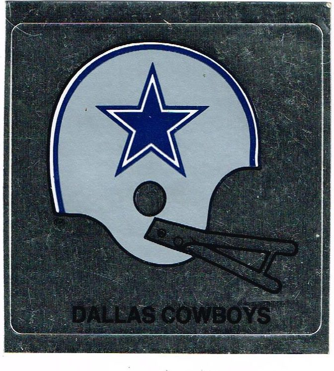 c8111cbd Vintage Dallas Cowboys Sticker Window Decal Helmet/Silver & Blue New ...