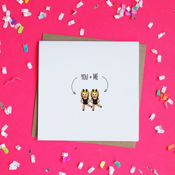 You Me Emoji Twins Cards Valentines Day Card by ShopMadz – Funny Best Friend Valentines Day Cards