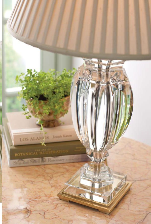 Crystal Lamps; Decorating Ideas; Beautiful Solid Crystal Table Lamp