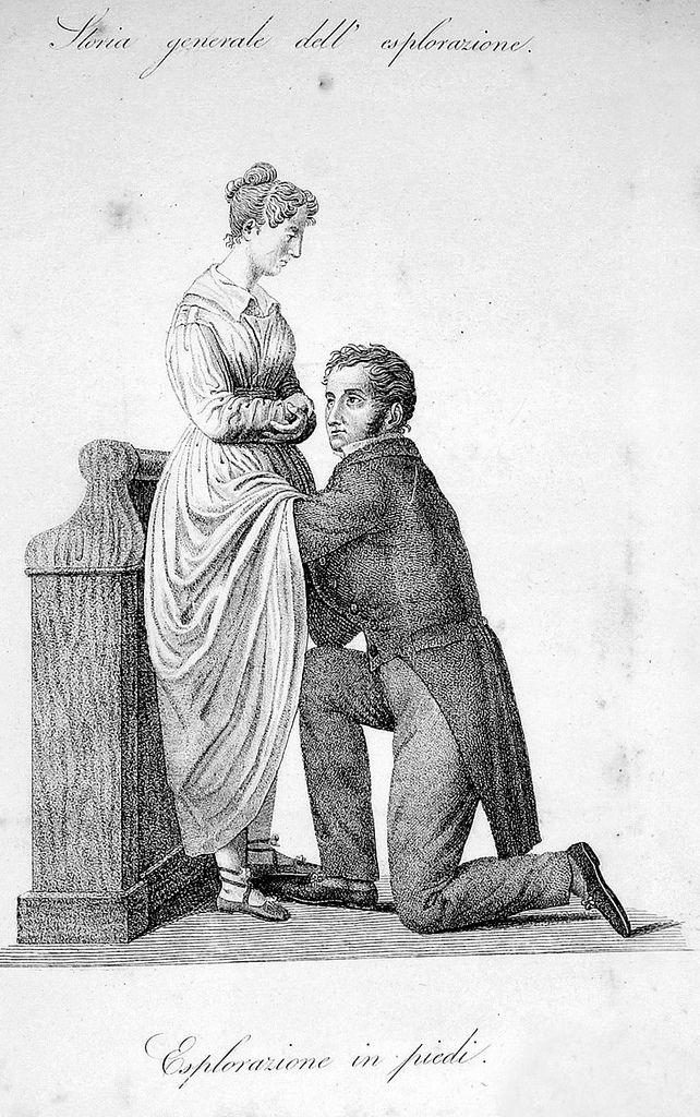 Dr.   1800 internal examination of a woman