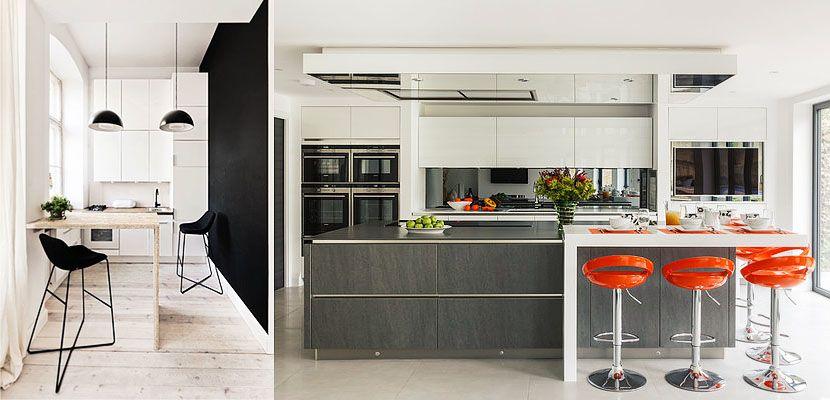 Barras De Cocina | Barras De Desayuno Funcionalidad En Ltua Cocina Small Spaces