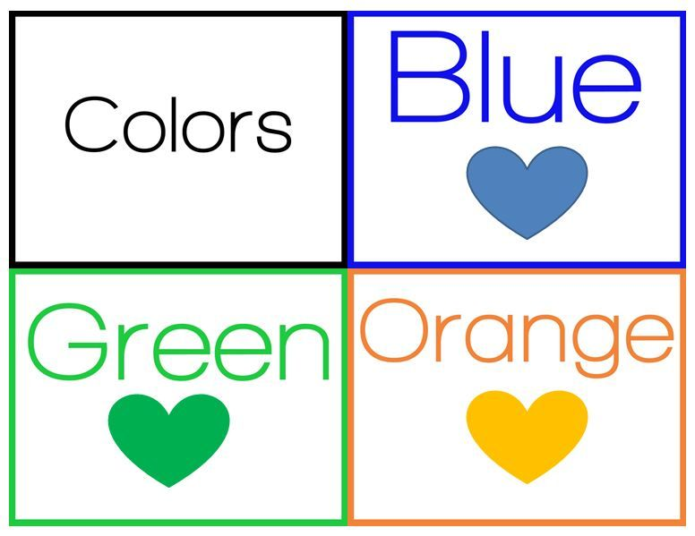 Colors Flashcards for Kindergarten