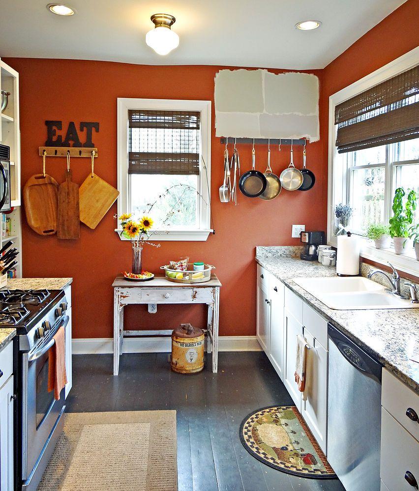 Kitchen Update Orange Kitchen Decor Orange Kitchen Walls Burnt Orange Kitchen