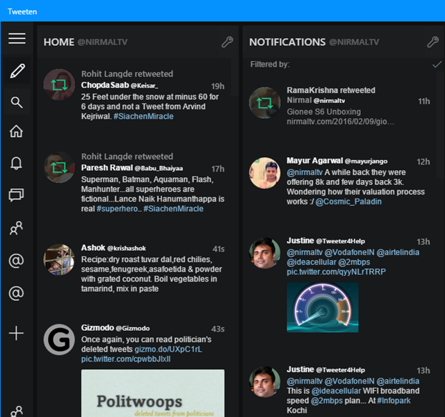 Tweeten Twitter app for Windows 10 Desktop | WebPoint