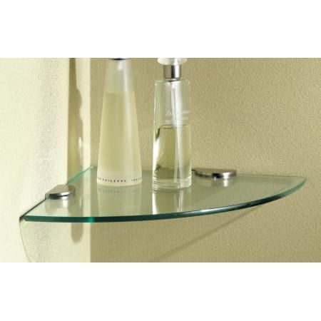 """Ginger 0218C-10TSCL N/A 3/8"""" Tempered Replacement Corner ... on Corner Sconce Shelf Tray id=85156"""