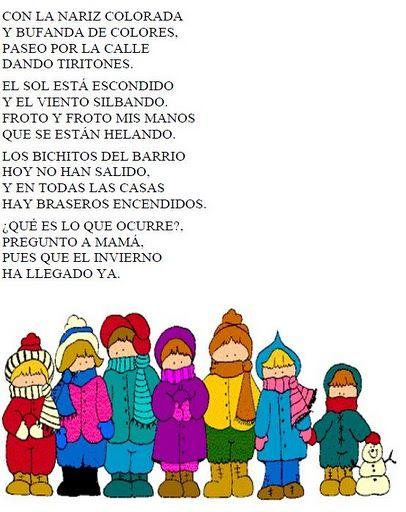 Poema Por El Dia Del Campesino Para Niños De Inicial El Rincon De La Maestra Jardinera Poesias Del Invierno Poesia