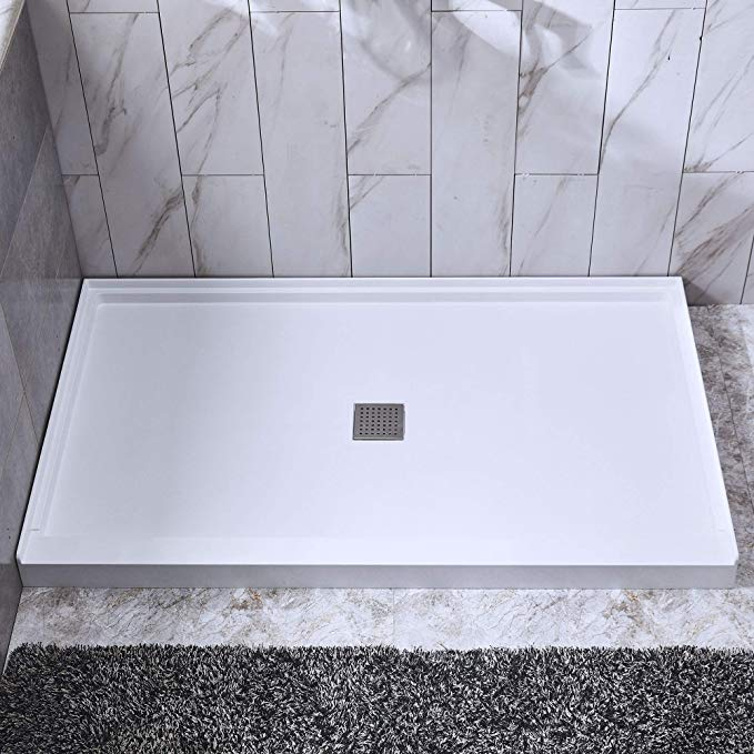 Woodbridge Solid Surface Shower Base 48 X 36 With Stainless