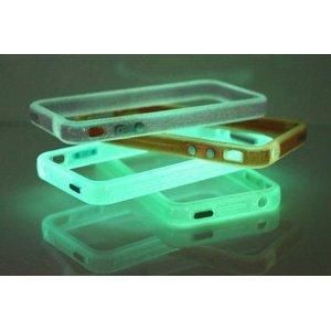 Blue Translucent Glow in the Dark Premium Bumper Case for Apple iPhone 4