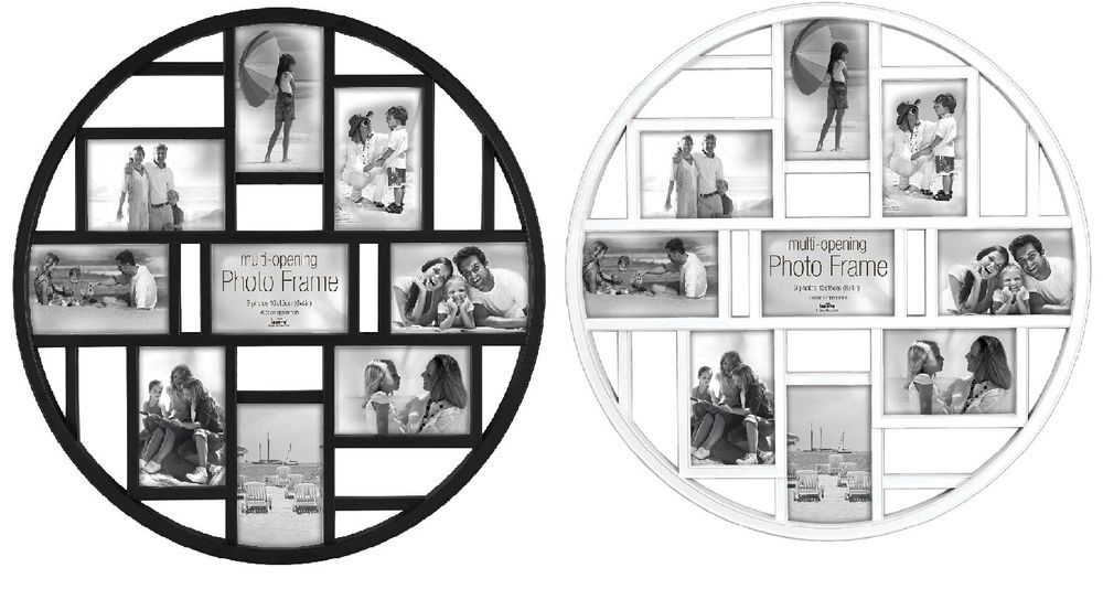 Circular Multi Aperture Photo Picture Frame Holds 9 X 6\'\'X4\'\' Photos ...