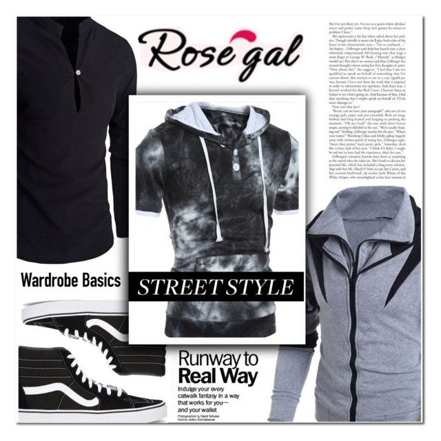 """""""Rosegal47"""" by angel-a-m on Polyvore featuring Vans, men's fashion, menswear, MensFashion, polyvoreeditorial, polyvorefashion and rosegal"""