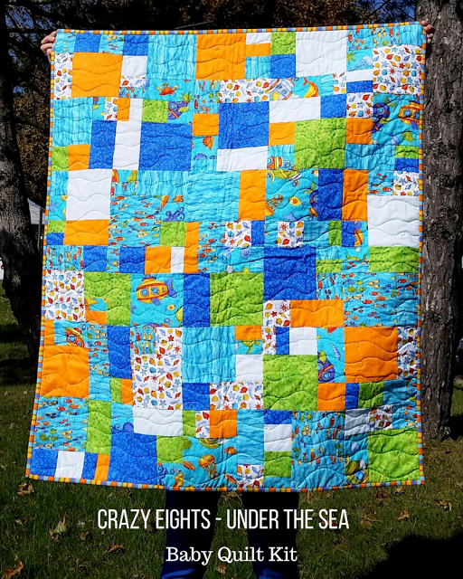 Sew Sisters Quilt Shop: Crazy Eights - Under the Sea - Baby Quilt ... : crazy eights quilt pattern - Adamdwight.com