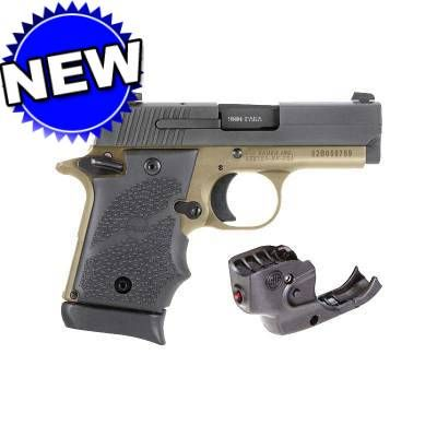 Sig Sauer P938 9mm Fdeblack Hogue Grip Ambi 3in Barrel Laser Sight