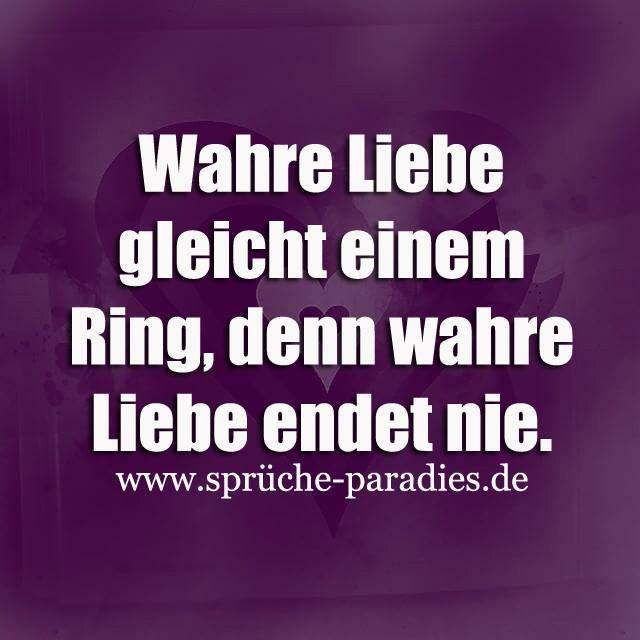 Wahre Liebe Gleicht Einem Ring Denn Wahre Liebe Endet Nie