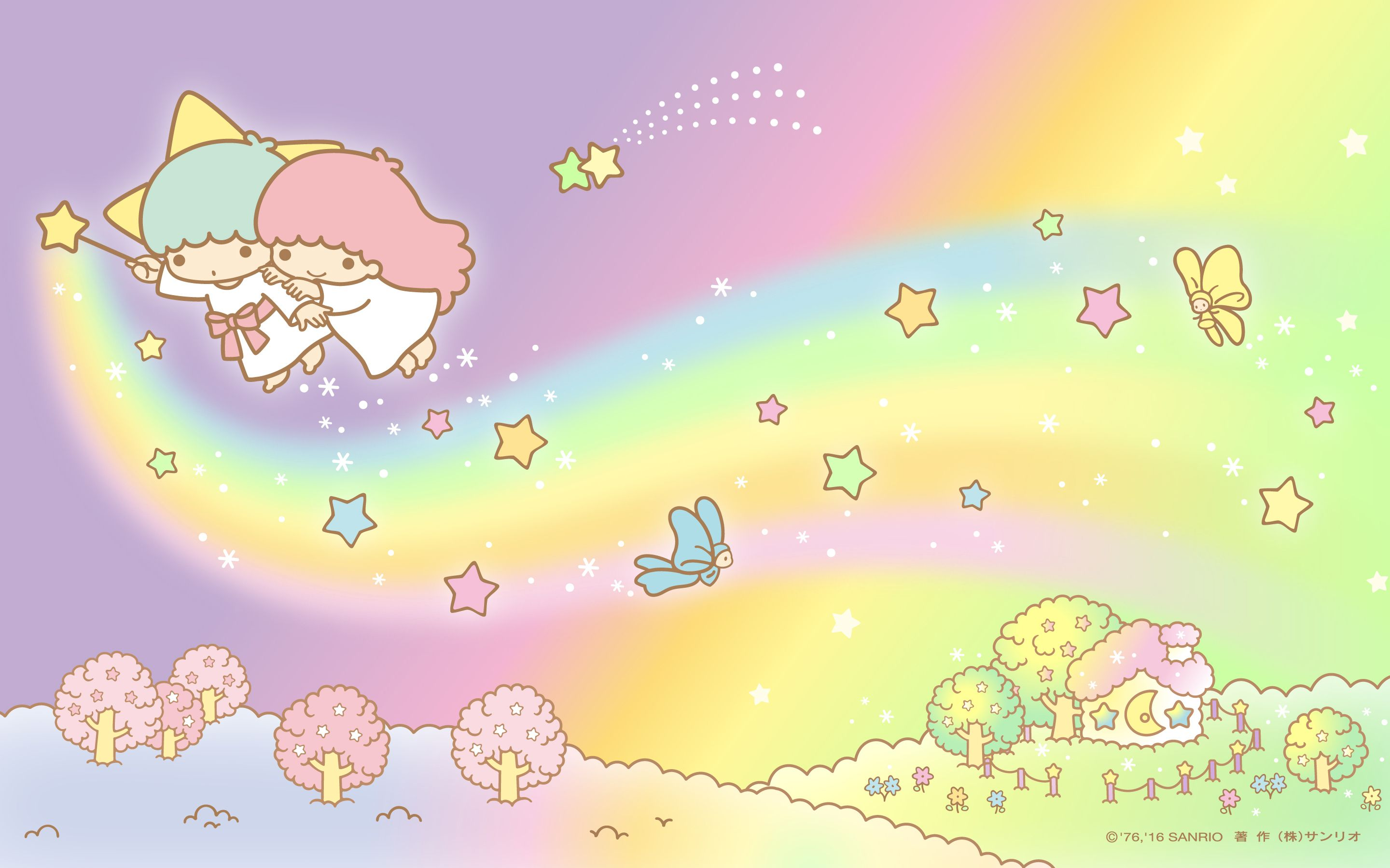【android Iphone Pc】little Twin Stars Wallpaper 201604 四月桌布