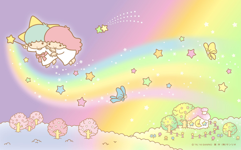 Little Twin Stars Wallpaper 2016 四月桌布 日本官方twitter票選天空