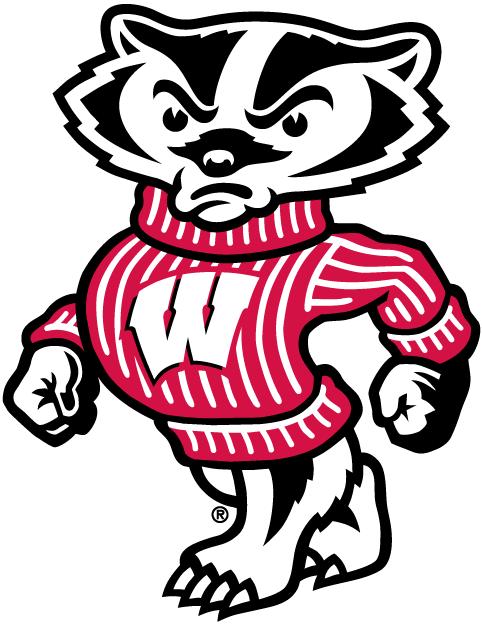 online store bae98 e5582 Wisconsin Badgers Mascot Logo - NCAA Division I (u-z) (NCAA u-z .