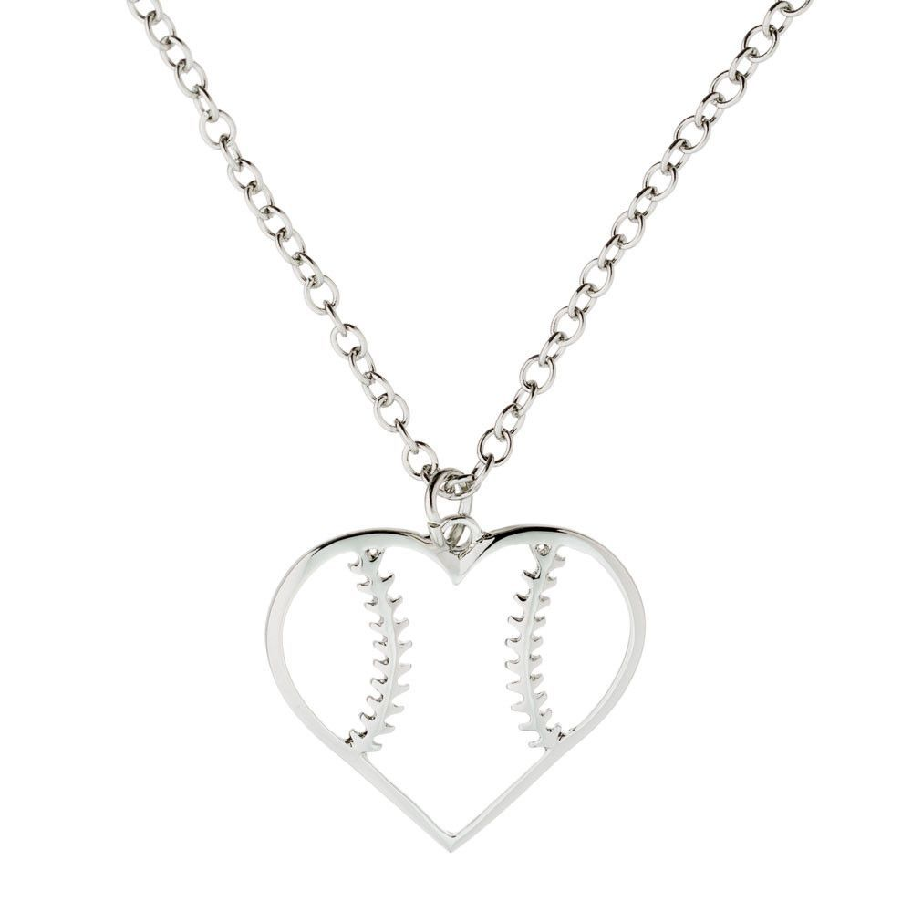 il or heart softball round of crystal baseball necklace piece with locket photo listing gallery fullxfull