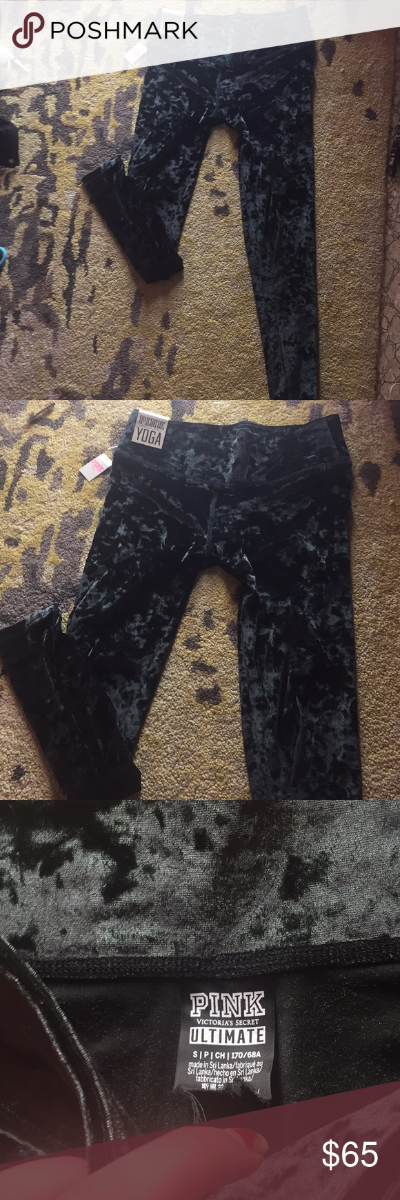 8018522fe6f79 NWT Victoria's Secret pink velvet velour leggings Brand new with tags and  sold out everywhere retails for 65$!!! Sold out !! PINK Victoria's Secret  Pants