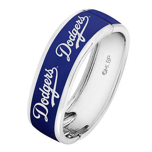 Los Angeles Dodgers Bangle Bracelet By Time Mlb