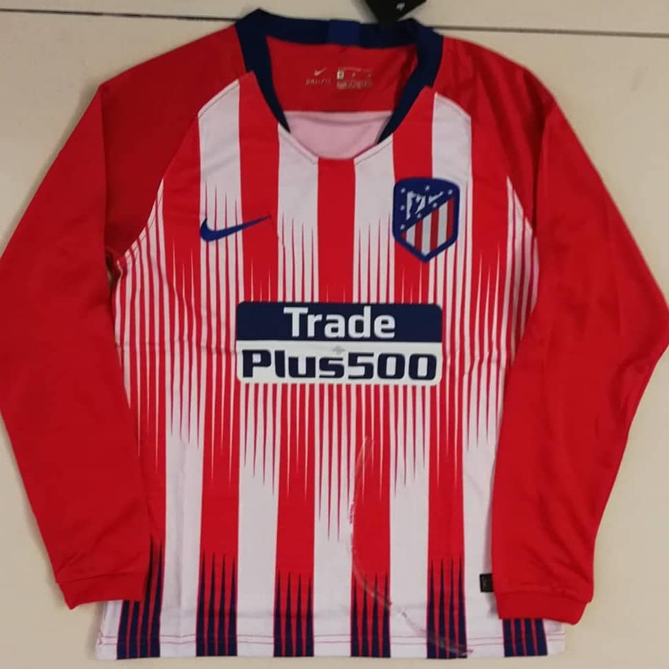 Atletico Madrid Home Kit Football Jersey 2018 2019 New Season ... 3fd750dd2