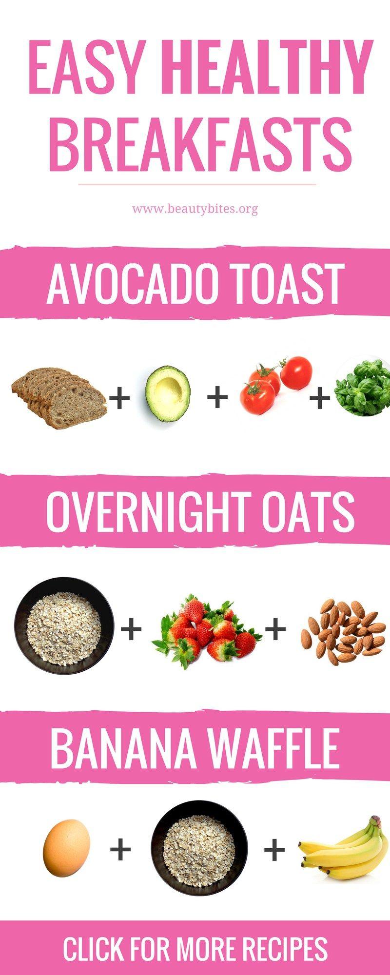 5 Easy Healthy Breakfast Ideas Ready In 5 Minutes Beauty Bites Overnight Oats Rezept Rezepte Abnehmen Abnehmen