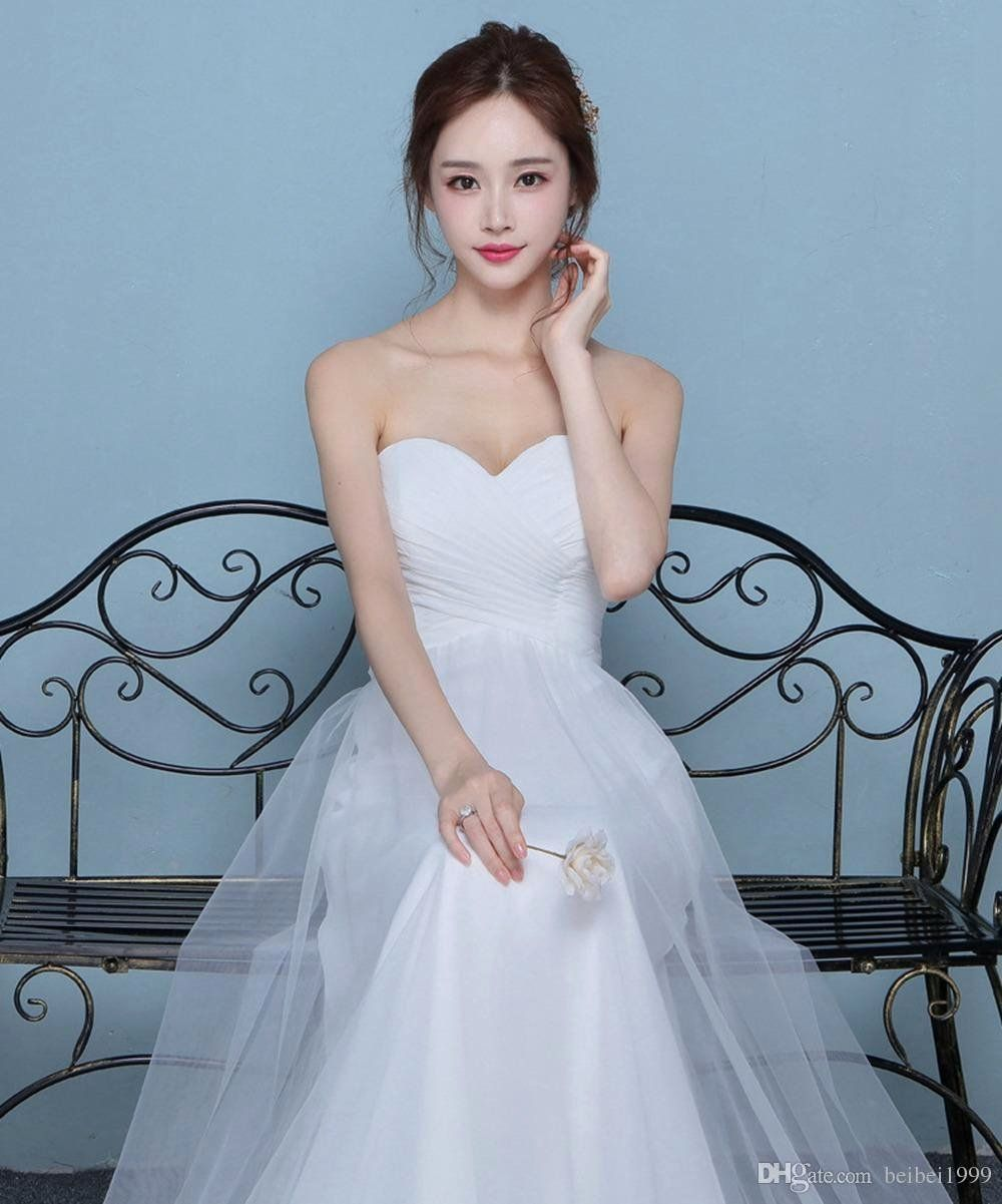 Tube top Wedding Dress Awesome Discount 2019 the Latest
