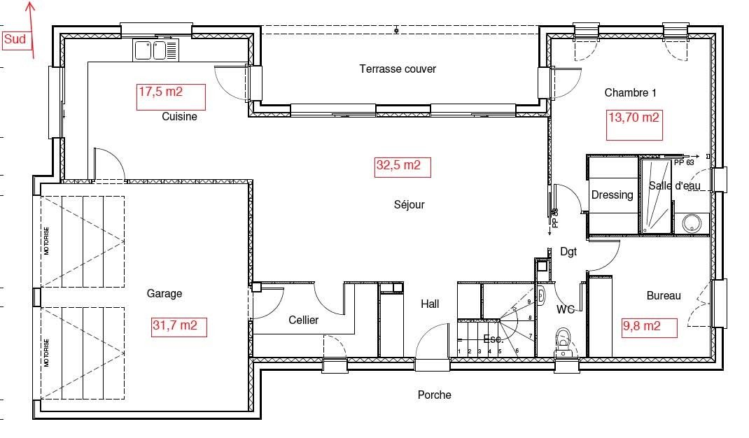 Pin by virginie crespel on plan rdc entree laterale Pinterest - plan de maison 150m2