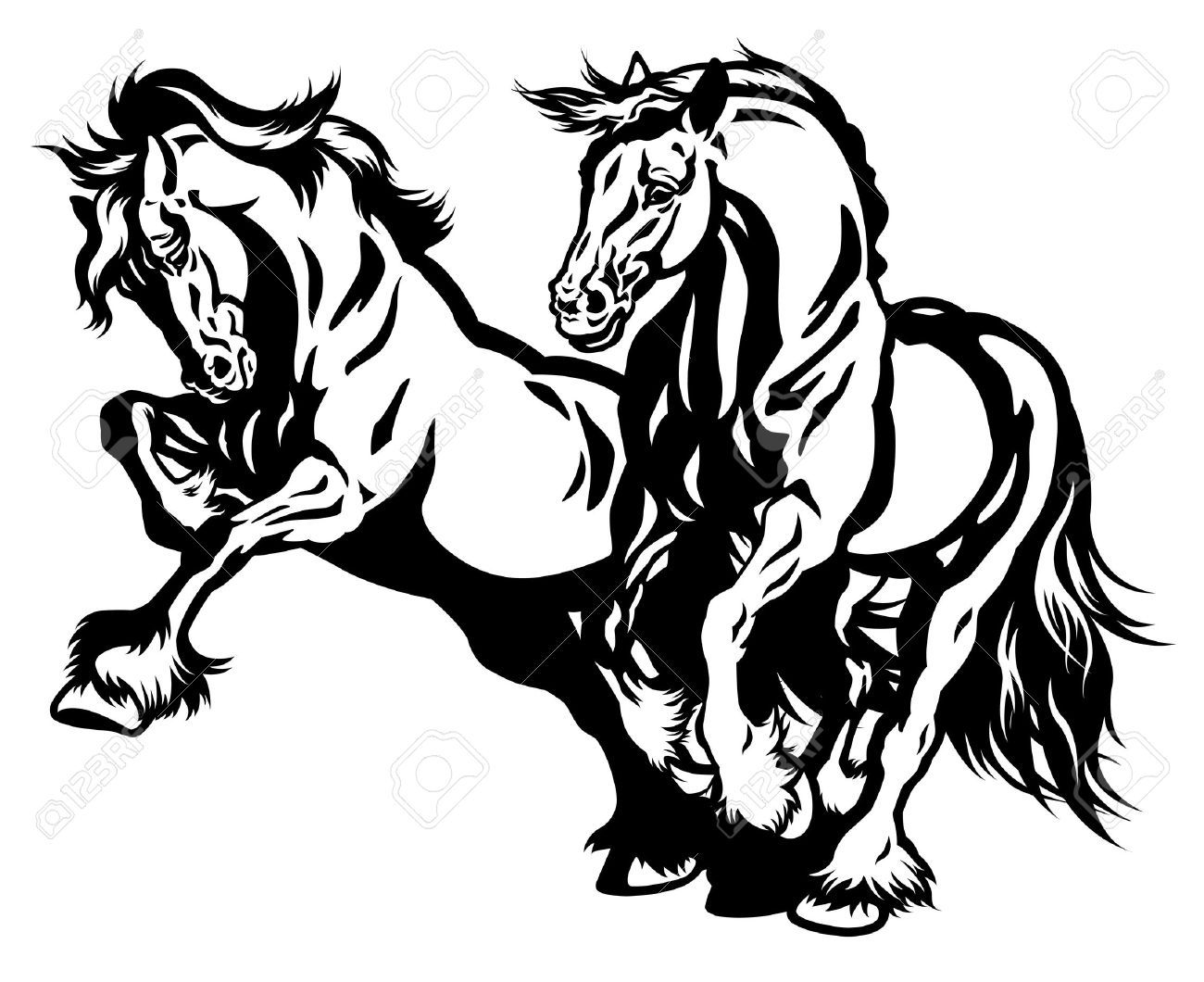 Silhouette Draft Horse Seens Google Search Black And White Illustration Horses Horse Silhouette [ 1060 x 1300 Pixel ]