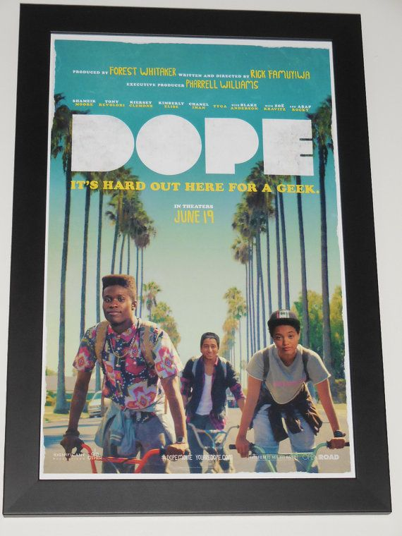 dope framed 11x17 promo movie poster custom by framedmovieposters