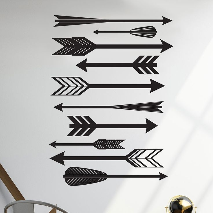 Feathered Arrows Pattern - Vinyl Wall Art Decal for Homes, Offices, Kids Rooms, Nurseries, Schools, High Schools, Colleges, Universities, Events | Dana Decals