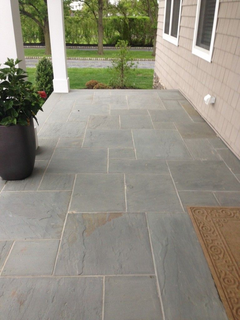 Bluestone Tile entry patio area Patio tiles, Patio