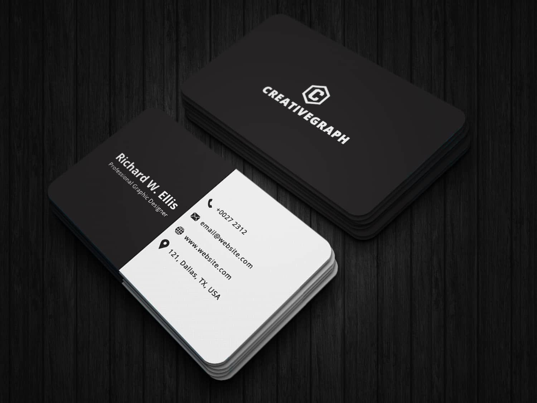 Standard Black White Business Card White Business Card Business Cards Business Cards Creative