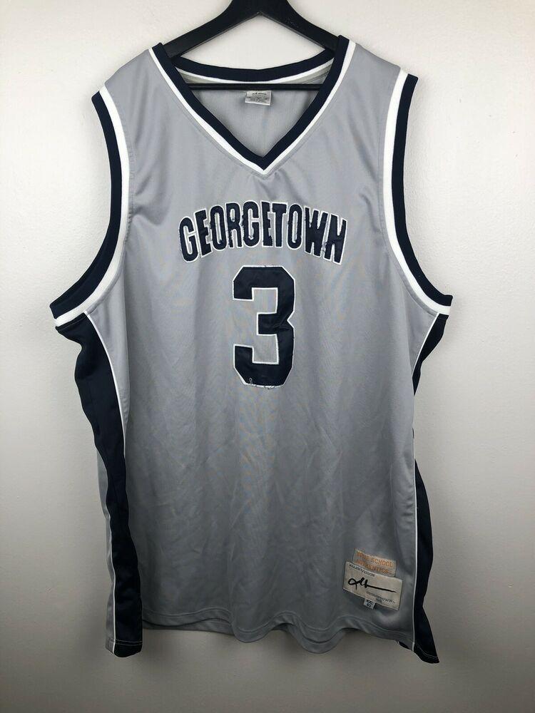 best website 947c6 fb8a0 Details about Throwback Allen Iverson #3 Georgetown Hoyas ...
