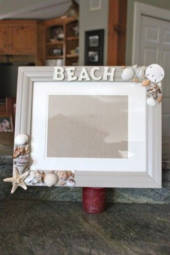 Diy Picture Frames Fast And Easy Diy Beach Decor Diy Picture