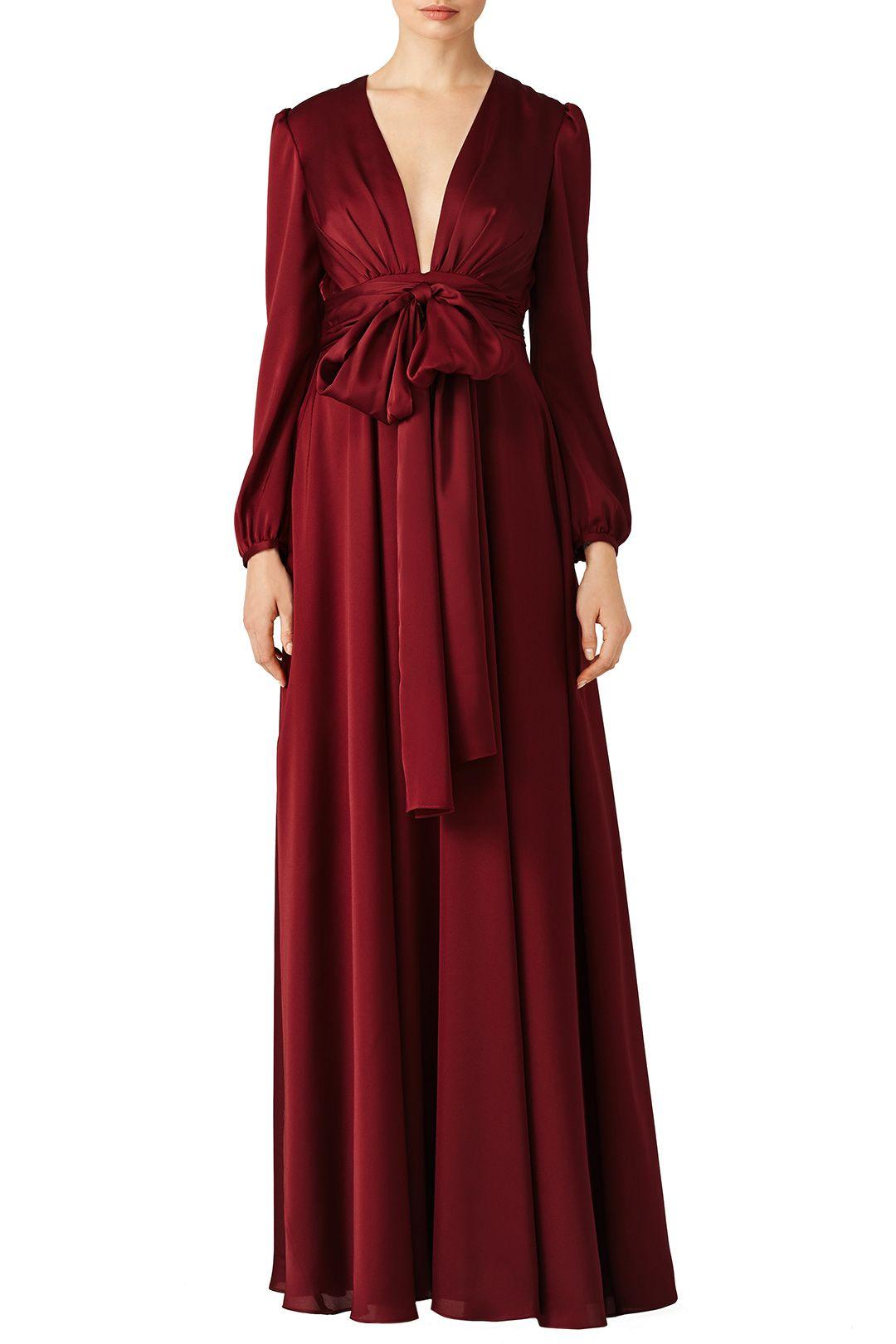 fb6ddf8b3d9 Oxblood Manor Gown by Jill Jill Stuart for  70