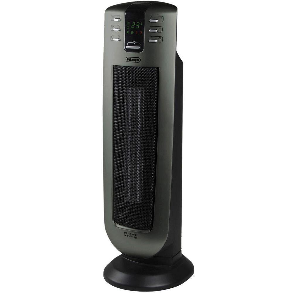 Delonghi Safeheat 24 In 1500 Watt Ceramic Vented Tower Radiant Heater W Remote Delonghi Tower Heater Heater Ceramic Heater