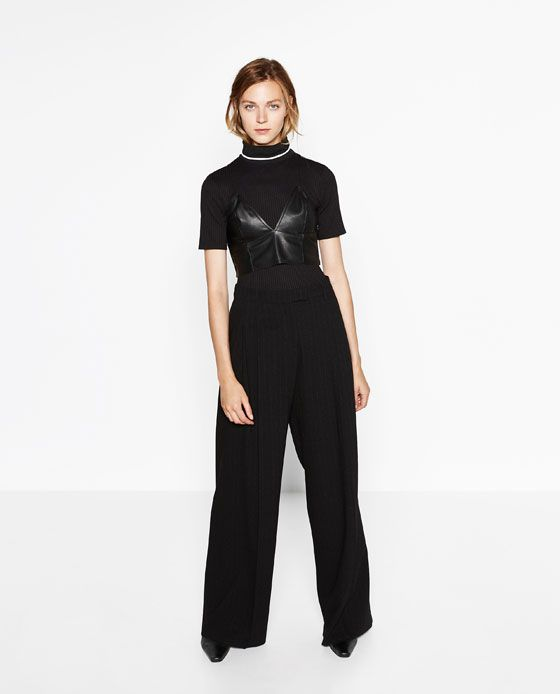 Image 1 of POLO NECK T-SHIRT from Zara