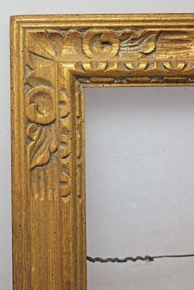 Vintage Art Deco Gold Gilt Wood Frame Chappell 13\