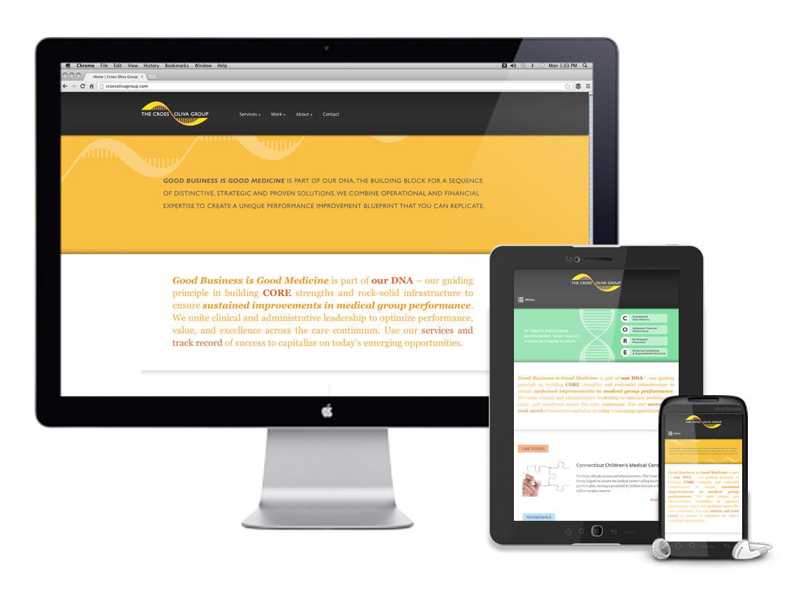 Client croes oliva group team william beachy chris comella croes oliva is a medical consulting firm that approached go media for a custom website design the site was built on wordpress with a custom sliding header malvernweather Choice Image