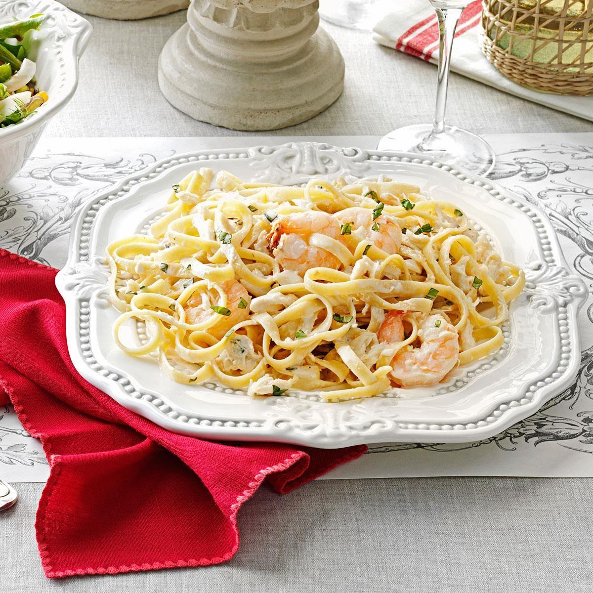 Fettucine Seafood Alfredo Recipe Seafood alfredo
