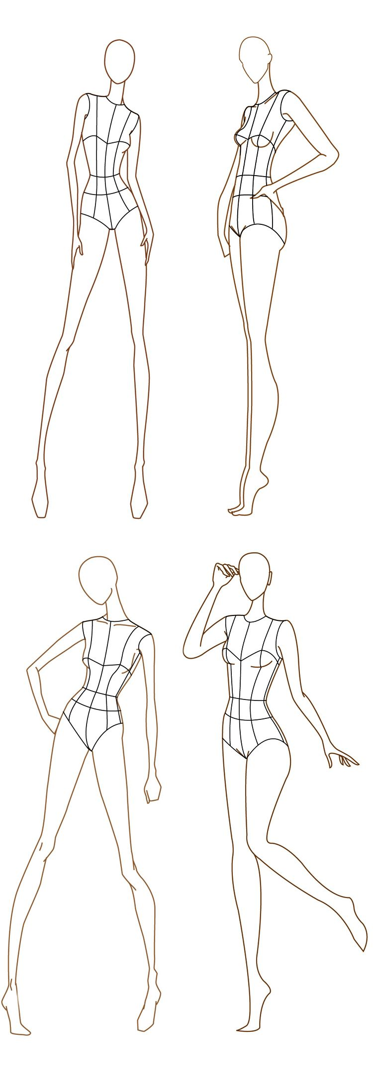 Free download fashion design templates more here http for Textiles body templates