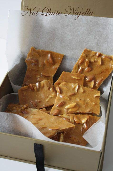 Almond, Cinnamon and Maple Brittle  An original recipe by Not Quite Nigella