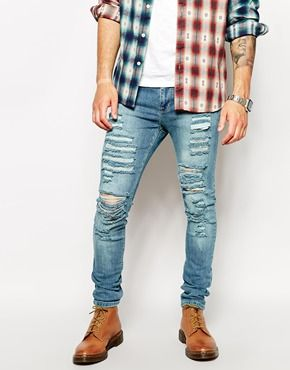 Ripped jeans add a really cool and casual twist to a smart outfit ...