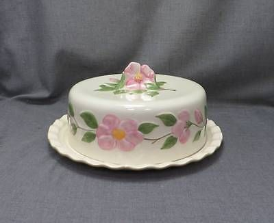 Franciscan-Desert-Rose-3D-Pink-Flower-china-Covered-Cake-Plate-Lid-NEW : covered cake plate - Pezcame.Com