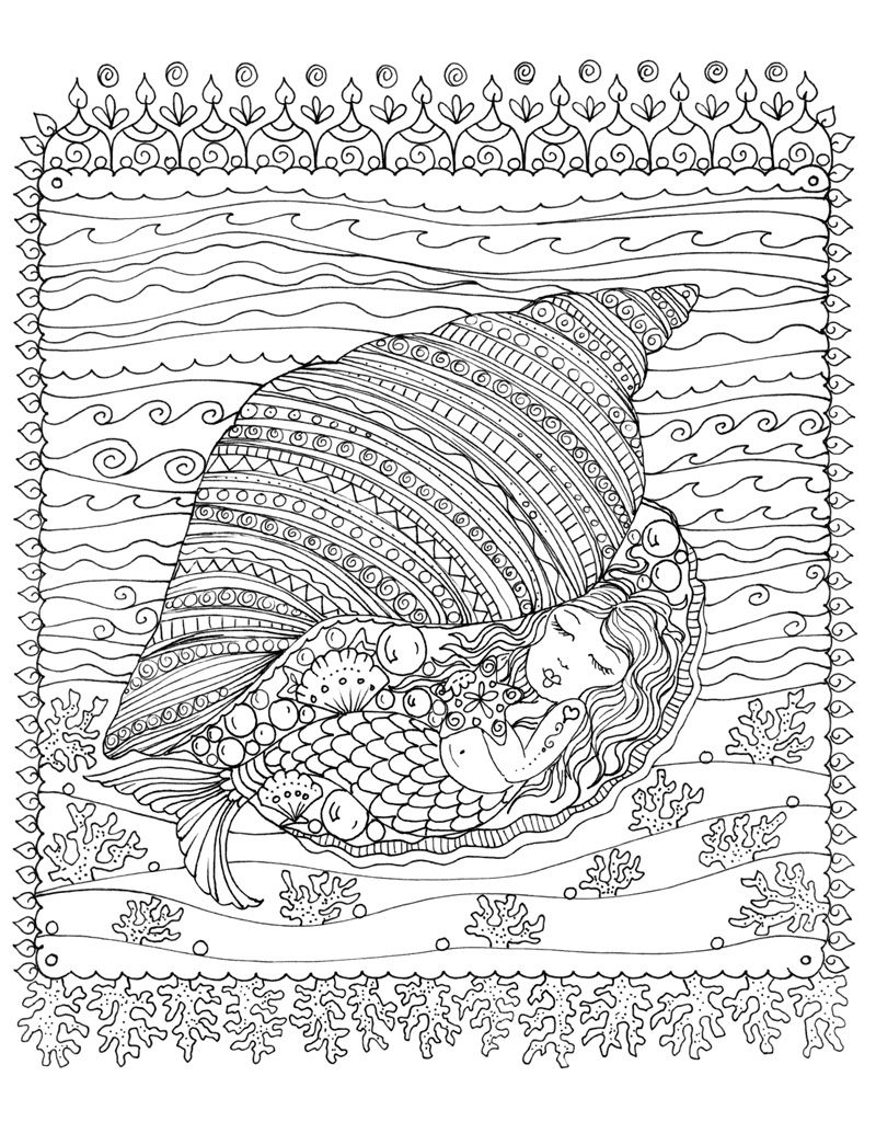 Zendoodle Coloring Under The Sea Deborah Muller Macmillan Mermaid Coloring Pages Mermaid Coloring Book Coloring Books