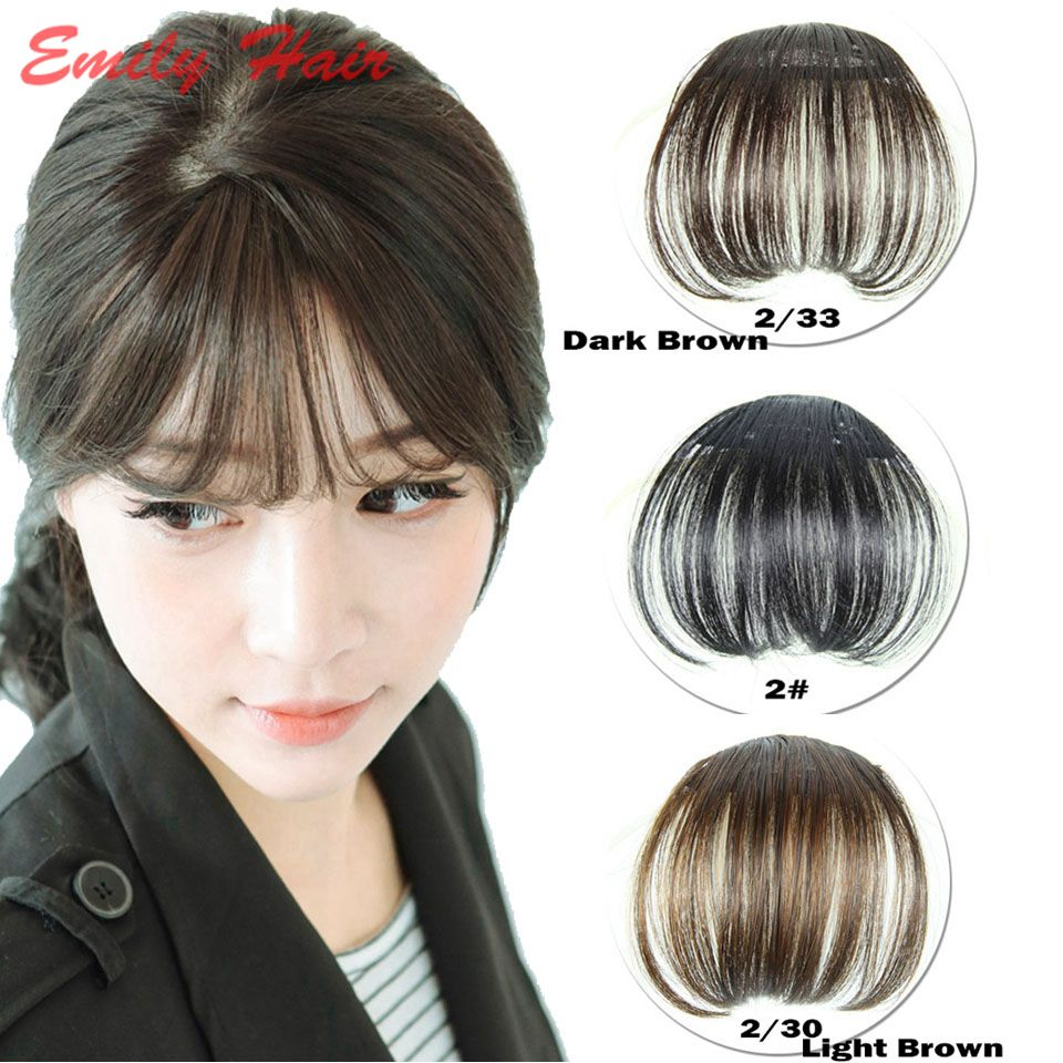 Hair Front Neat Bangs For Women 6cm Natural Hair Bangs Synthetic Clip In Bangs Front Neat Bangs Fringe H Hairstyles With Bangs Hair Pieces Fake Hair Extensions