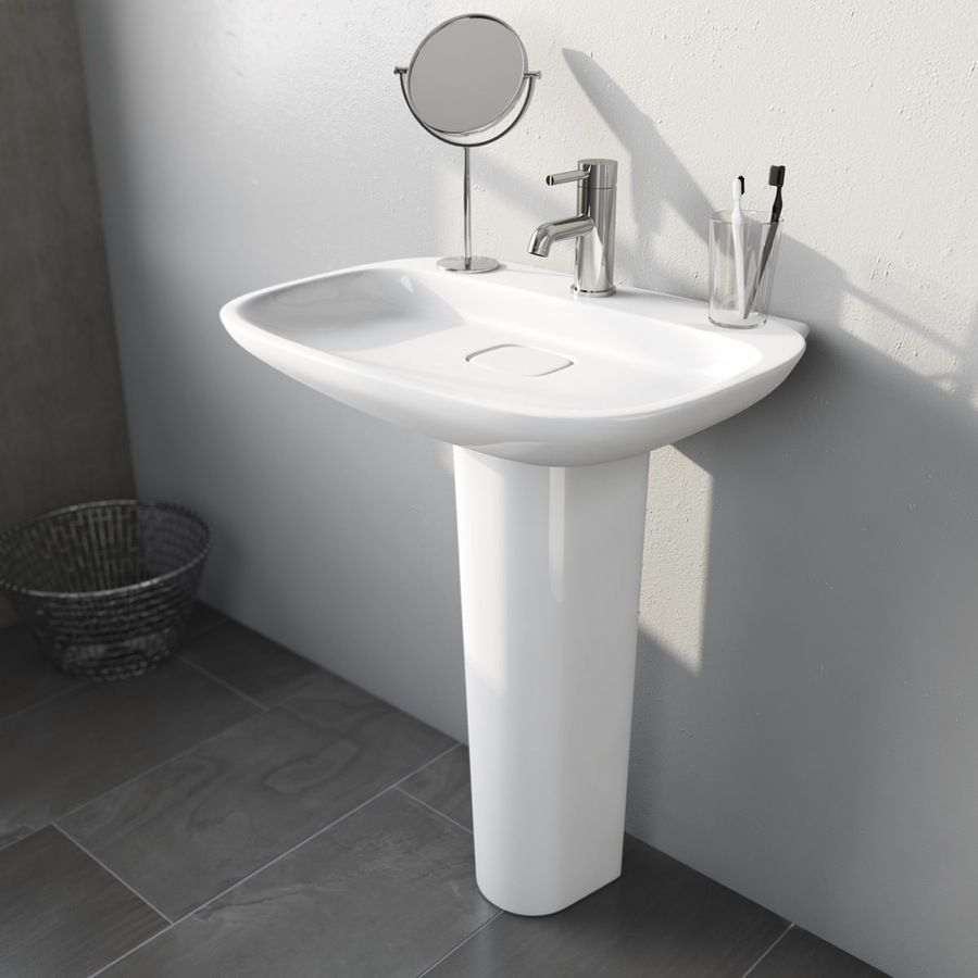 pedestal sink or vanity in small bathroom%0A Fairbanks  TH    mm Basin and Full Pedestal