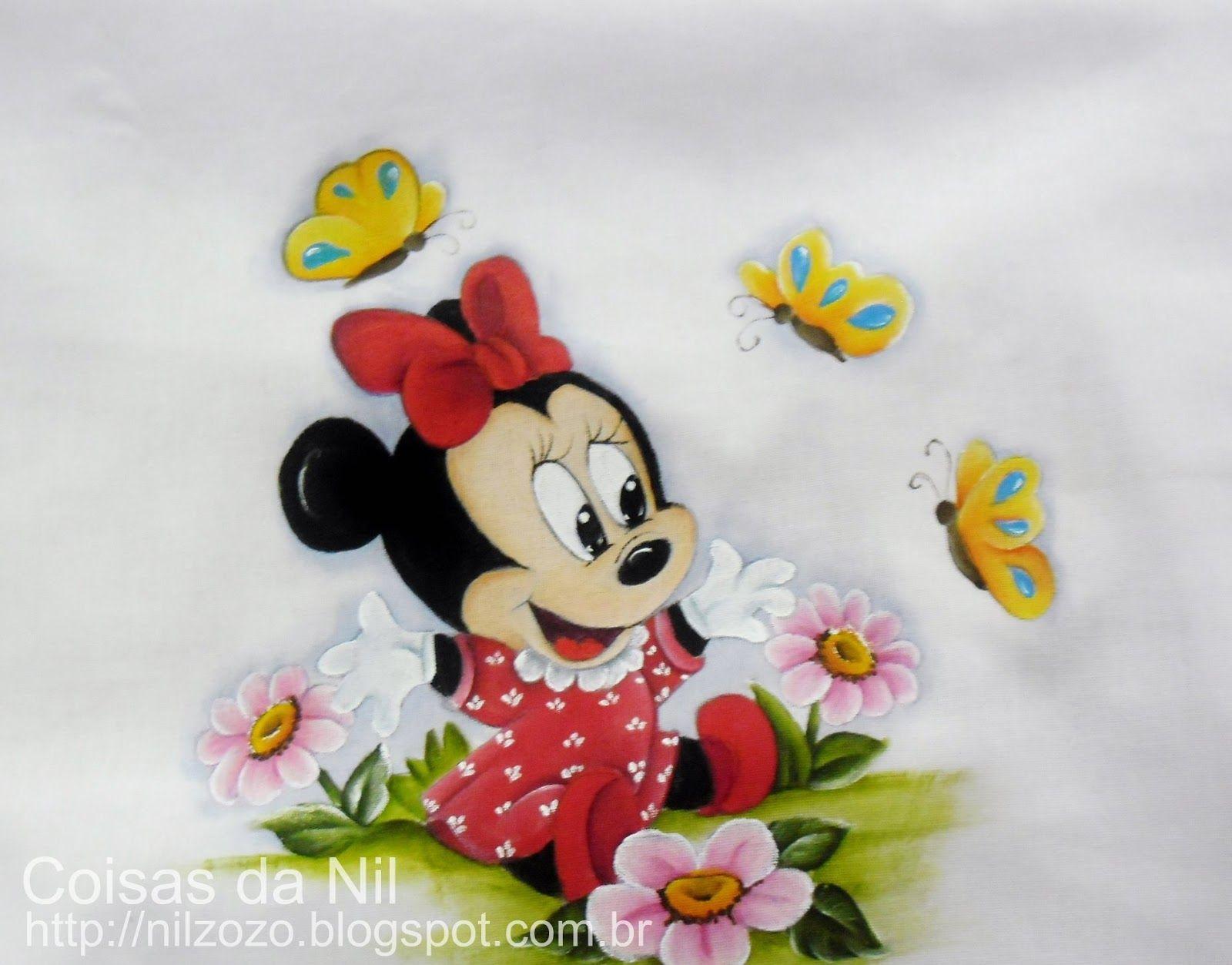 Desenhos Da Minnie Para Pintar Em Tecido: Coisas Da Nil - Pintura Em Tecido: Minnie Mouse