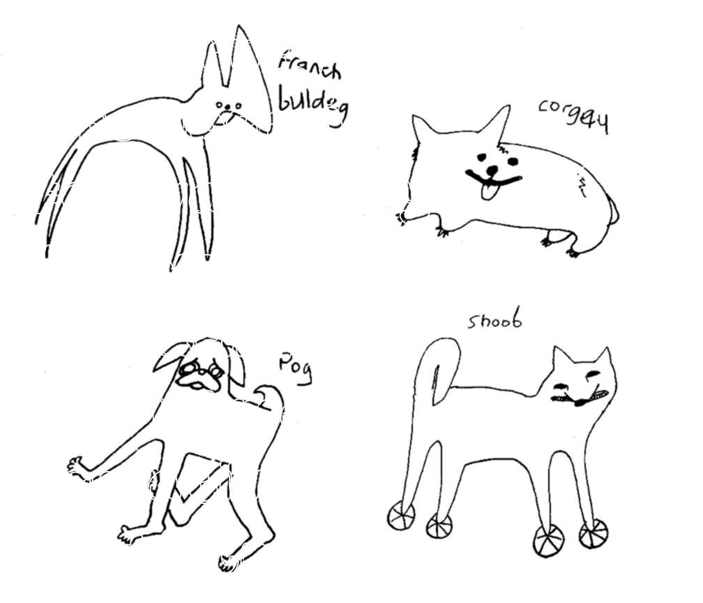 Group member Joe McBurney shared these drawings he did of cool dogs he saw Earlier today Cool Dog Group member Joe McBurney shared these drawings he d...